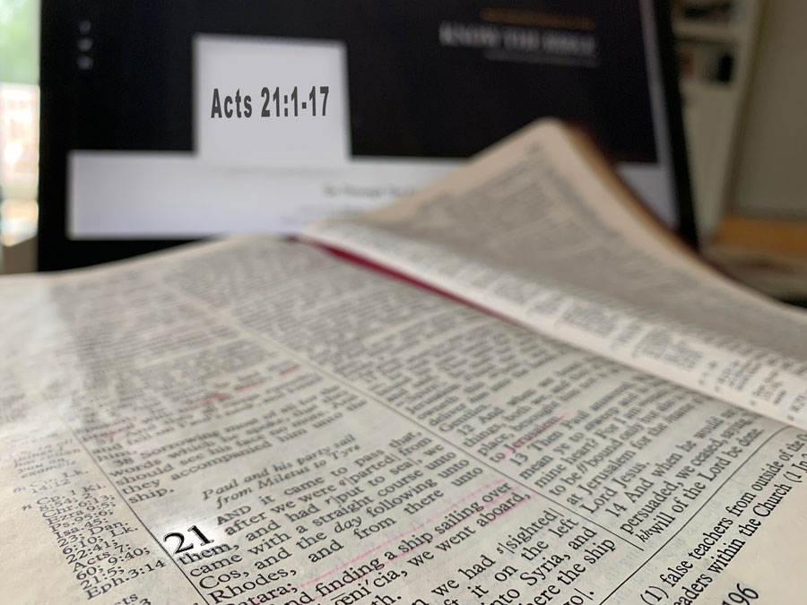 Acts 21:1-17