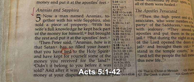 Acts 5:1-42