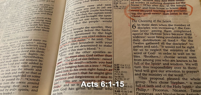 Acts 6:1-15
